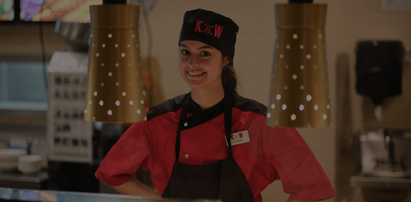 K&W Cafeteria employee smiling