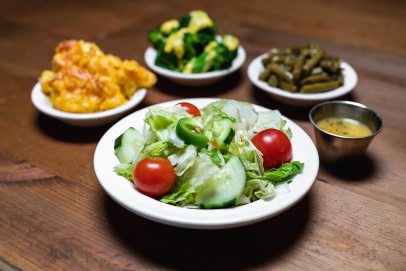 tossad salad with tomatoes and cucumbers side