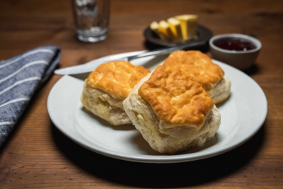 biscuits with jelly and butter