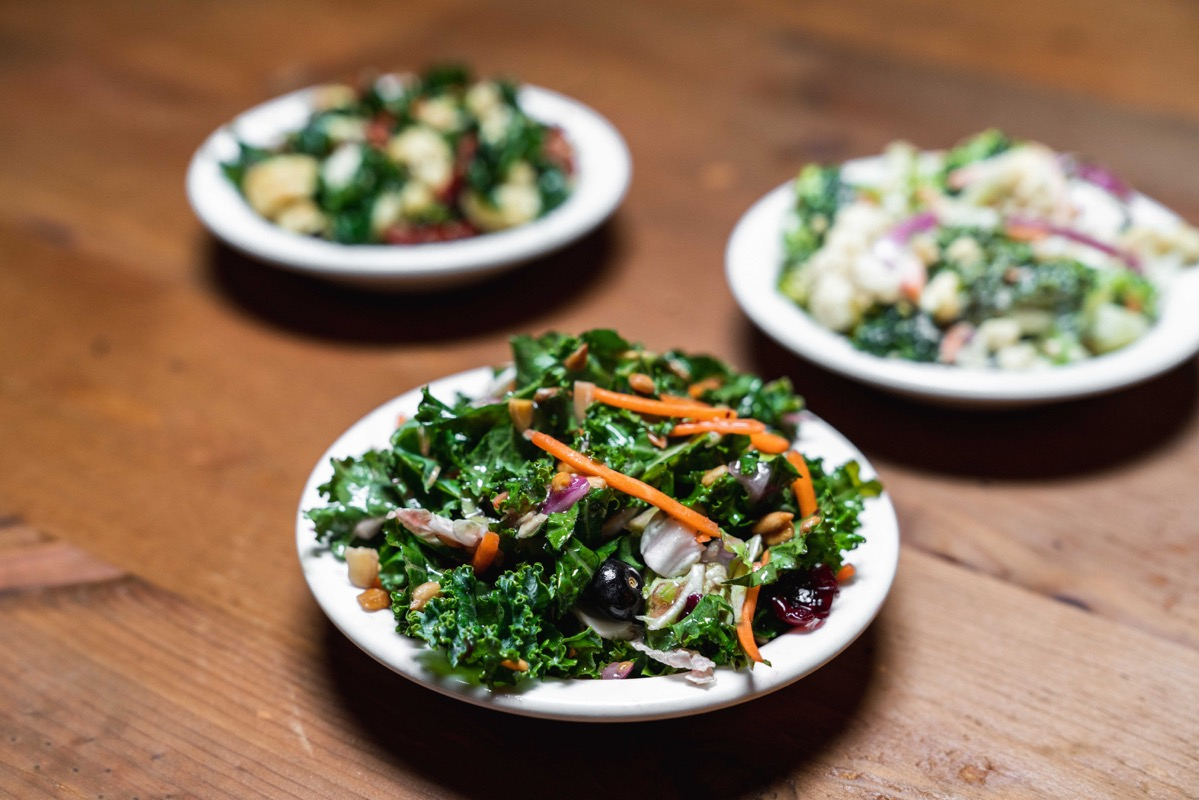 side of kale salad
