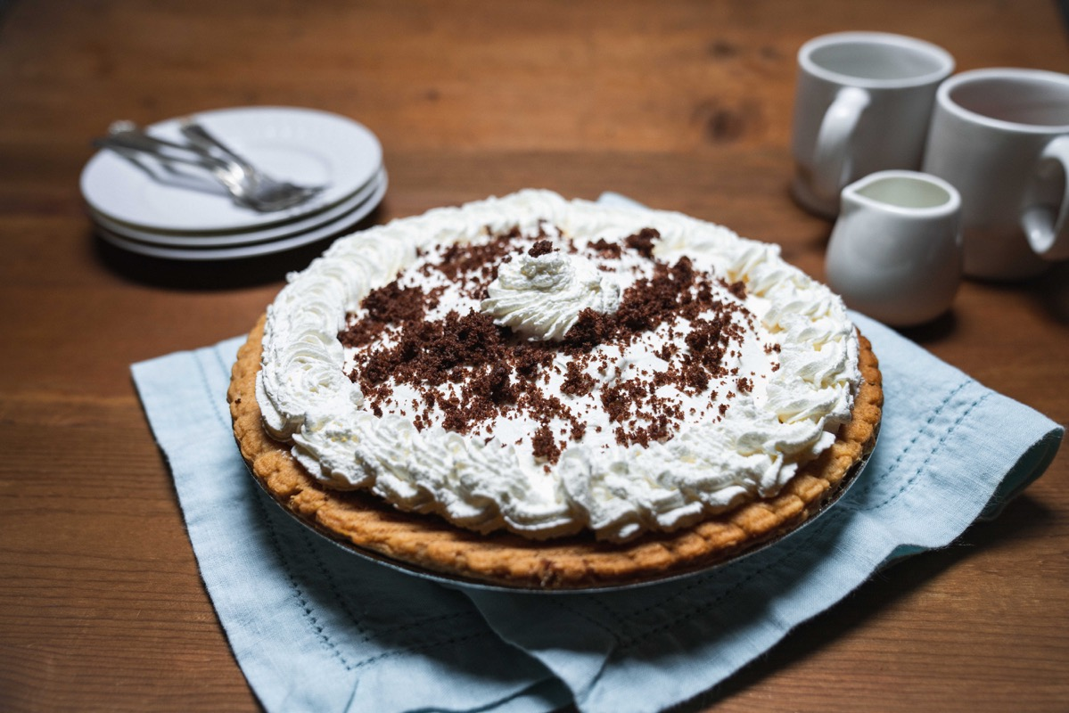 whole chocolate cream pie